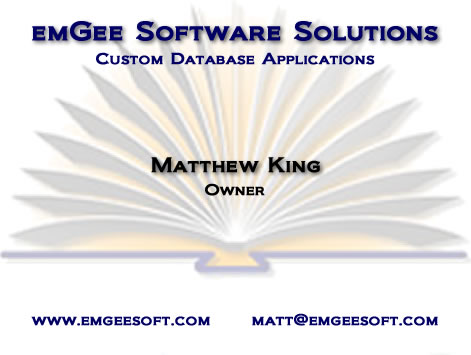 emGee Software Solutions Business Card