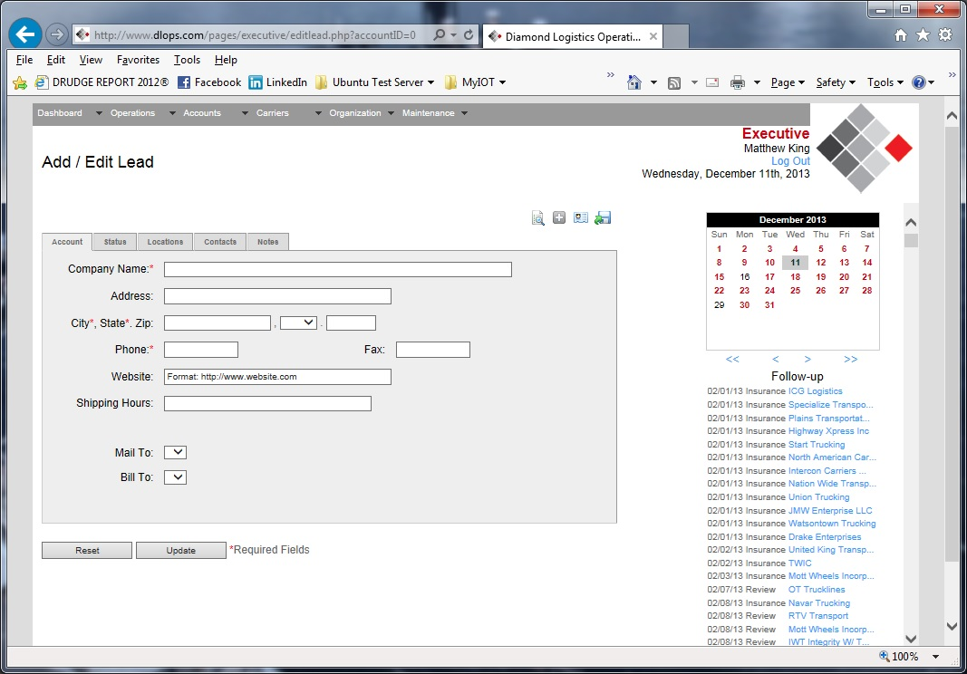 Freight Broker Software Screenshot